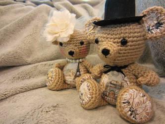 Teddy Bear - Vintage / Victorian Teddy Bear Couple by Dragon620026