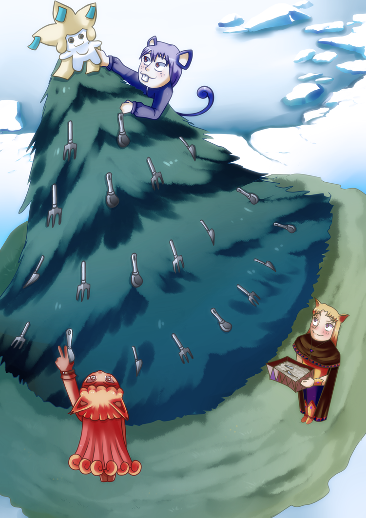 Collab_Decorar el arbol by 0chidori0