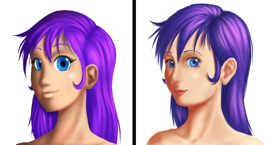 Purple Hired Girl Improvement by QuesoGr7