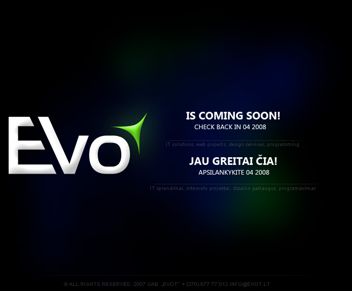 evo coming in few days