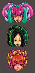 Cyber Girlies by minimonster777