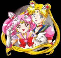 Sailor Moon and Chibi-moon by ykansaki