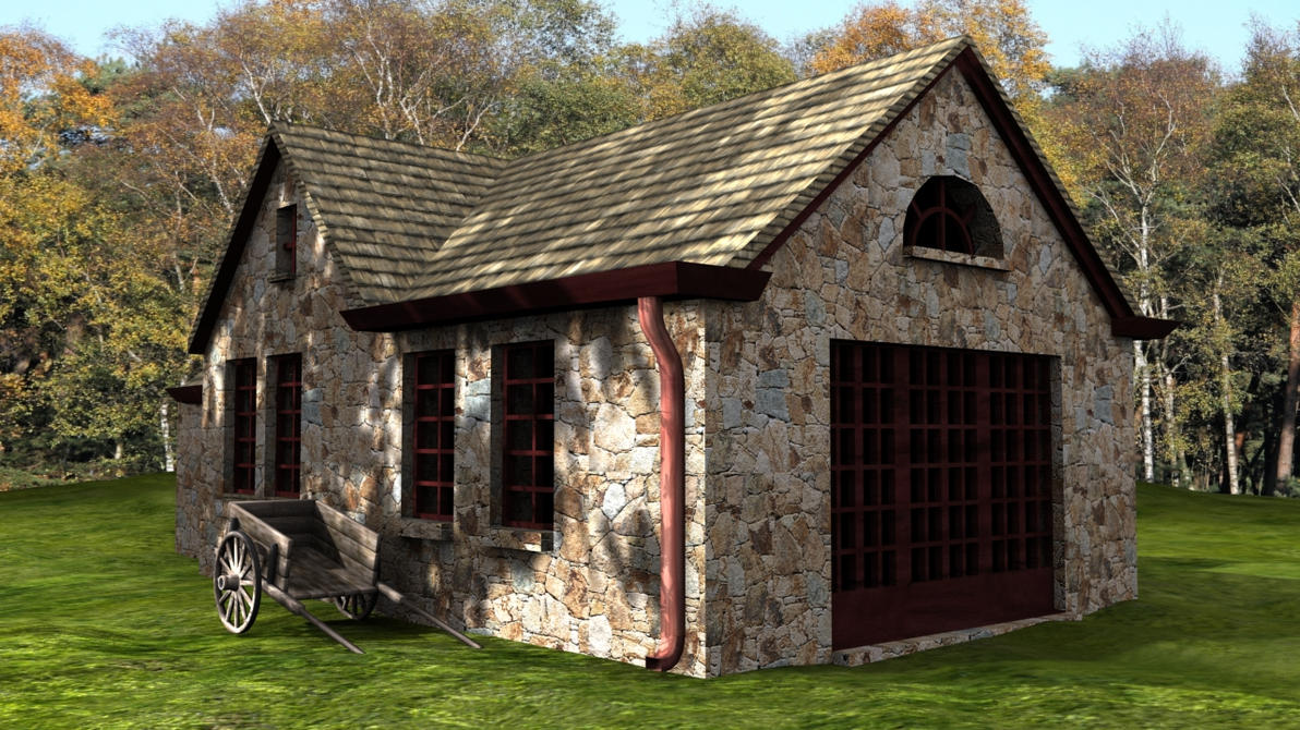 3d Stone House By Rawfies On Deviantart