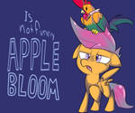 is not funny apple bloom