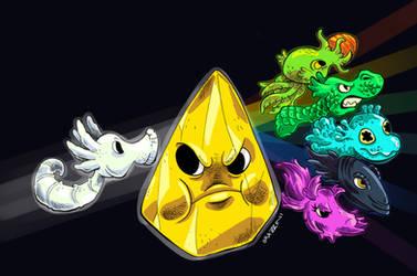 Floyd's Sticker Squad by DibujameUnCordero