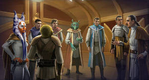 heroes and villains of star wars: Jedi Council