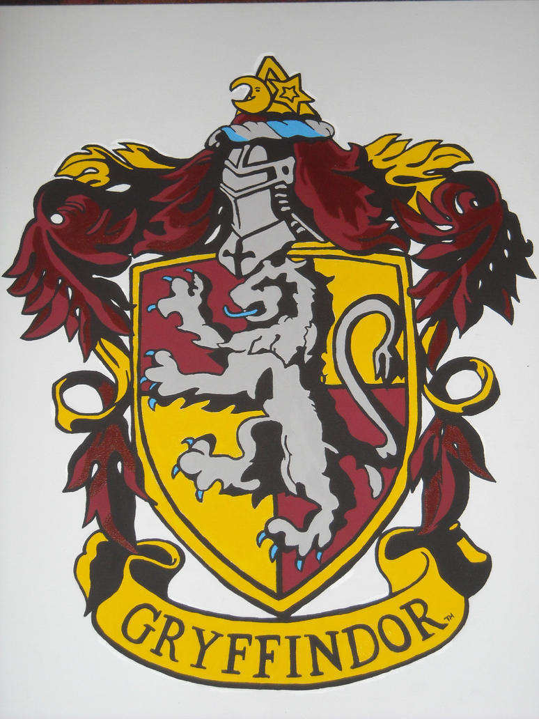 an analysis of the painting of the gryffindor crest