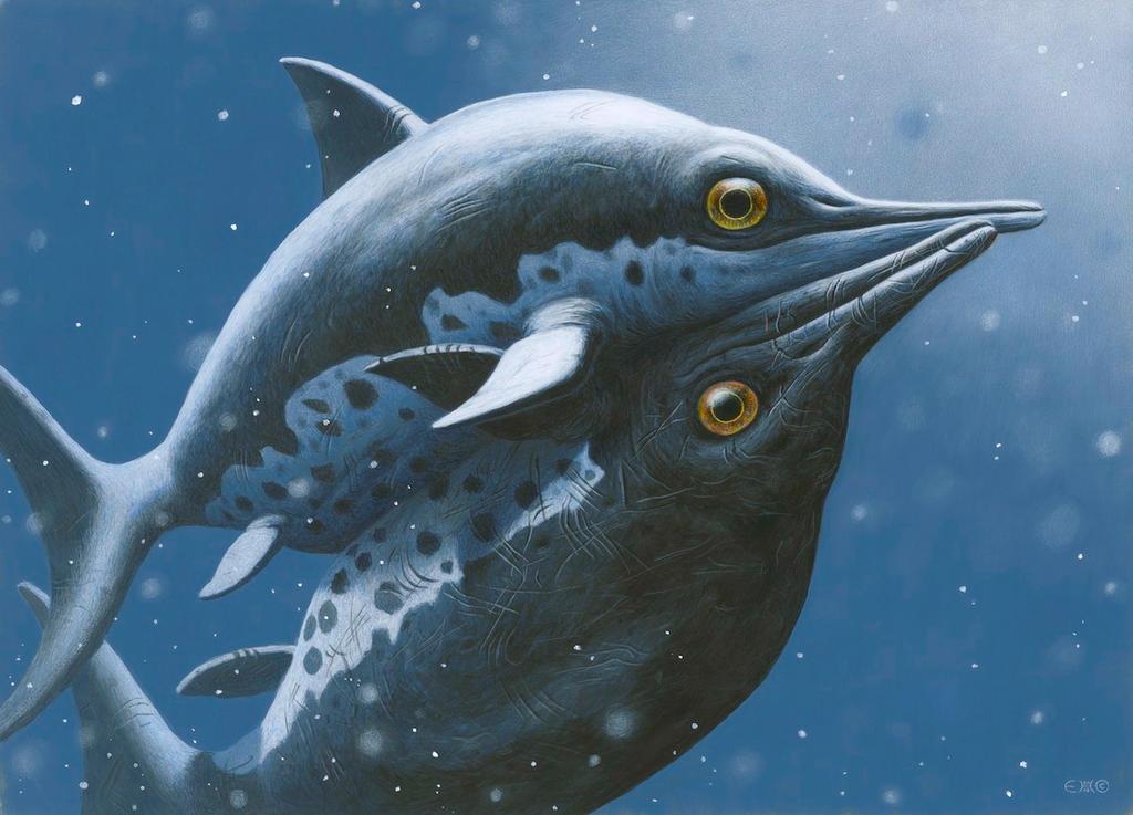 Ichthyosaur Love by EsthervanHulsen