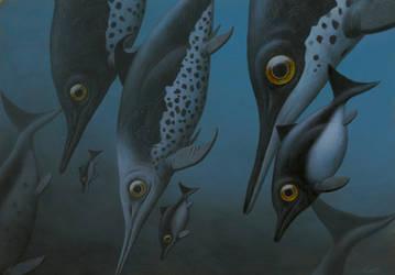 Ichtyosaur Group by EsthervanHulsen