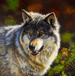 Wolf painting by EsthervanHulsen