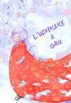 The crane pattern uchikake by neko-productions