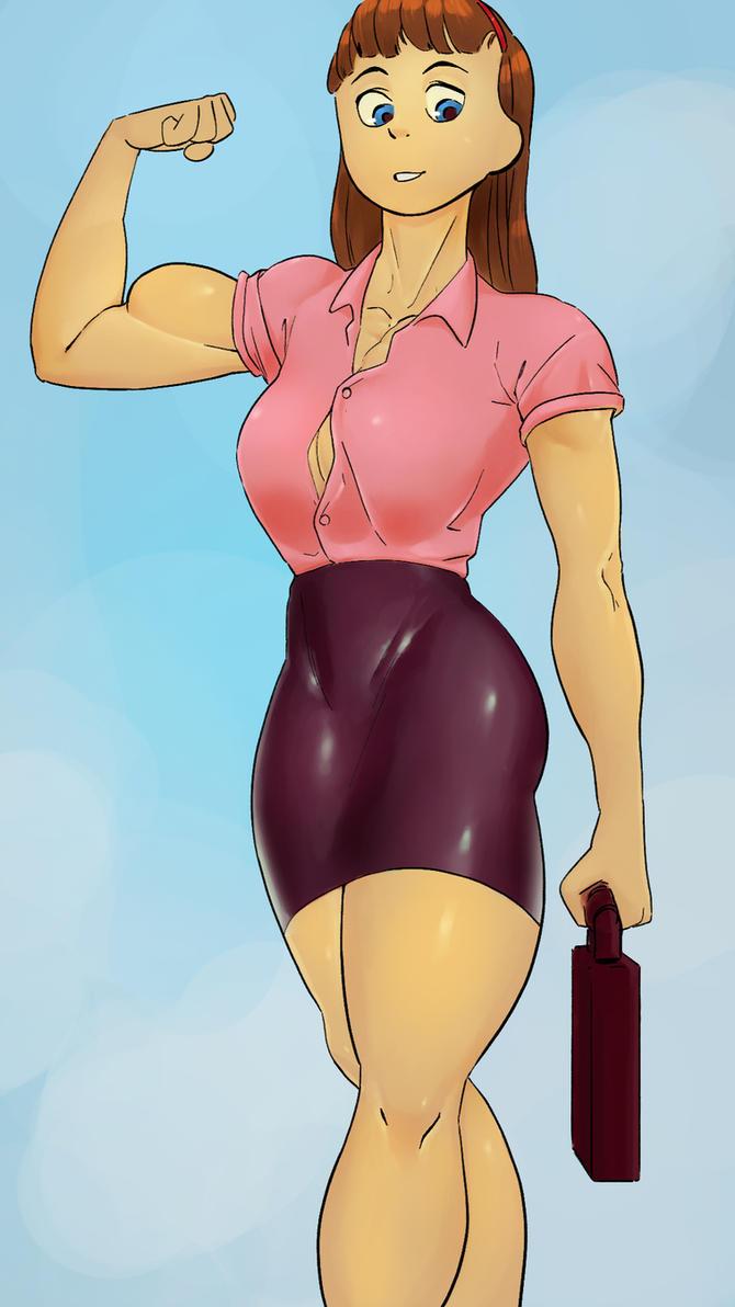Office Girl by gobstomperstomper