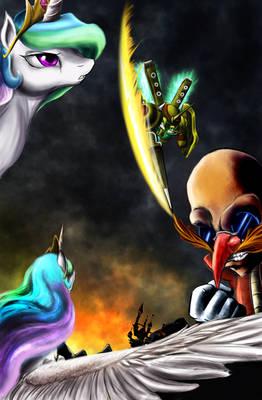 Commission: Princess Celestia vs Egg Emperor