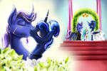 Wedding of Azure Night and Princess Luna
