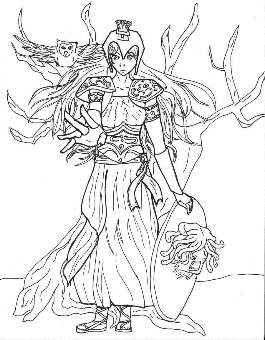 how to draw greek goddess athena