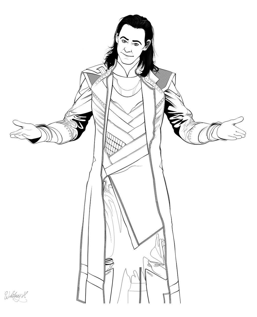 Loki Coloring Page by KestrelMoonfayre on DeviantArt