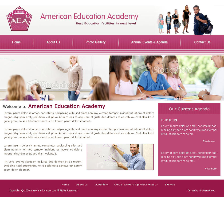 school website design by dzinerart on DeviantArt