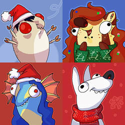 Christmas icons commissions by DonEnaya