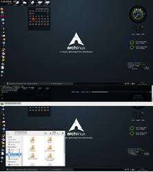 Arch Linux Desktop by kernill