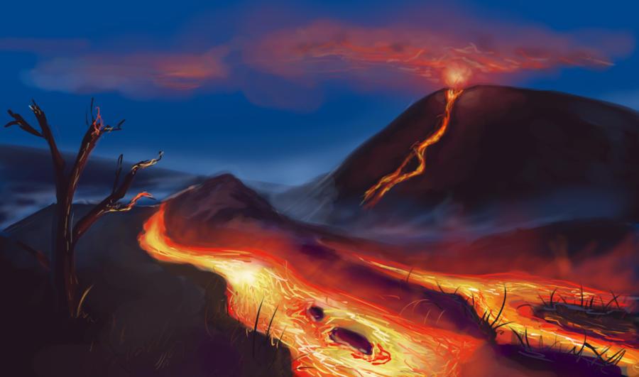 Flash mob_Landscapes_Volcano by Stasushka