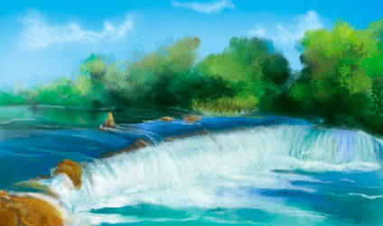 Flash mob_Landscapes_waterfall