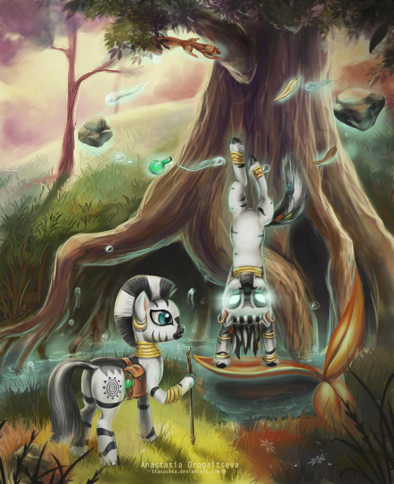 Zecora and Dream Catcher_magic lesson by Stasushka