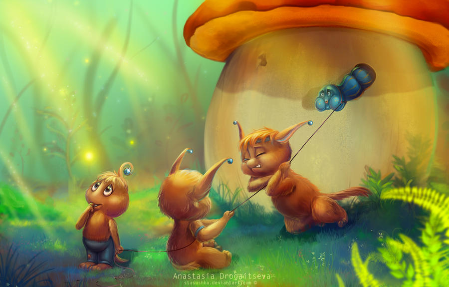 Fungi folk by Stasushka