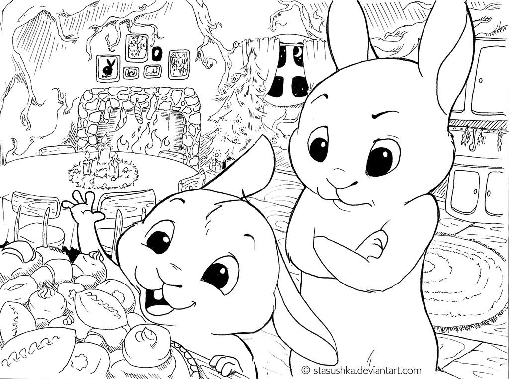 Is dinner soon? (BunnyStories2) by Stasushka