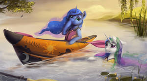 Princesses' kayaking accident