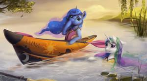 Princesses' kayaking accident by Stasushka
