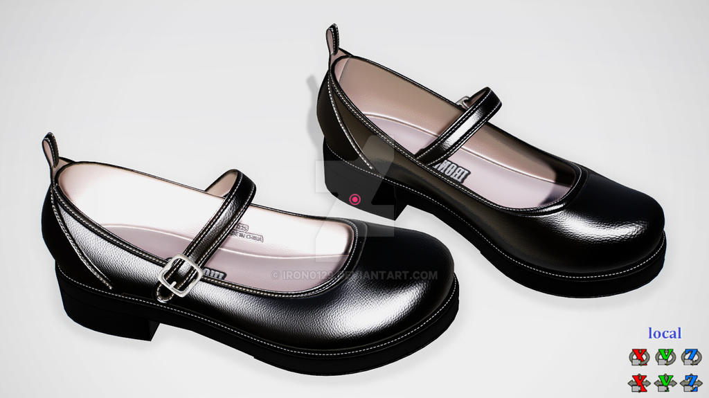 Flat Leather Platform Shoes