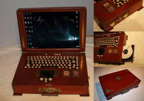 Staempunk Laptop by CadGear123