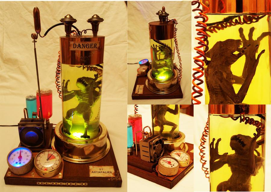 Steampunk Artapalien alien by CadGear123