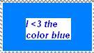 I love blue stamp by minikisame