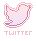 Pastel Twitter Button by sukiiee