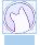 Pastel Blue CuriousCat Button by sukiiee