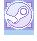 Pastel Blue Steam Button by sukiiee