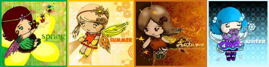 4-season fairies :3 by lalalaiizaa
