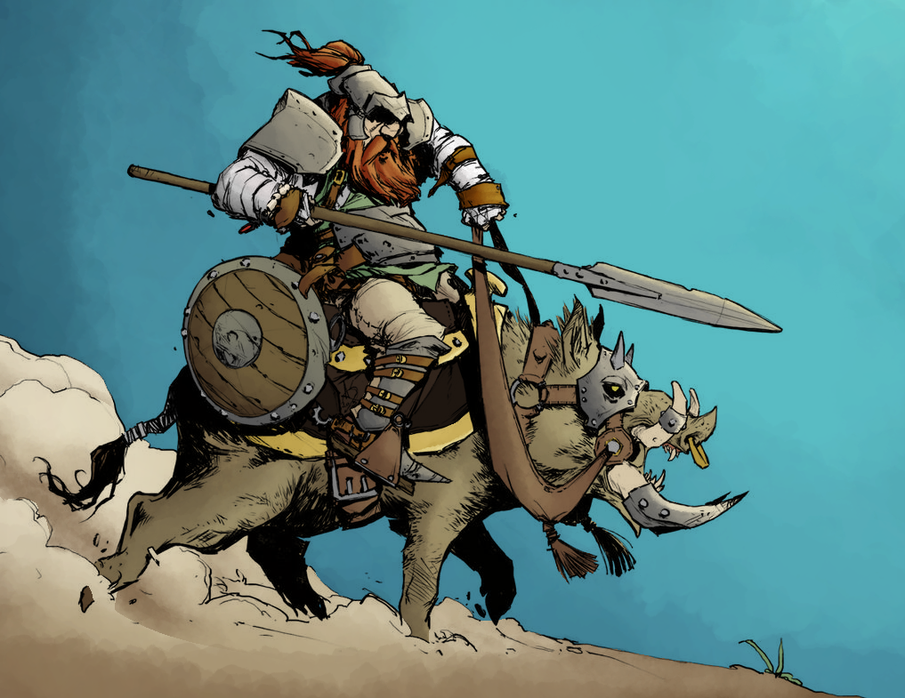 Boar Rider By Davidsequeira by LaytonMaes