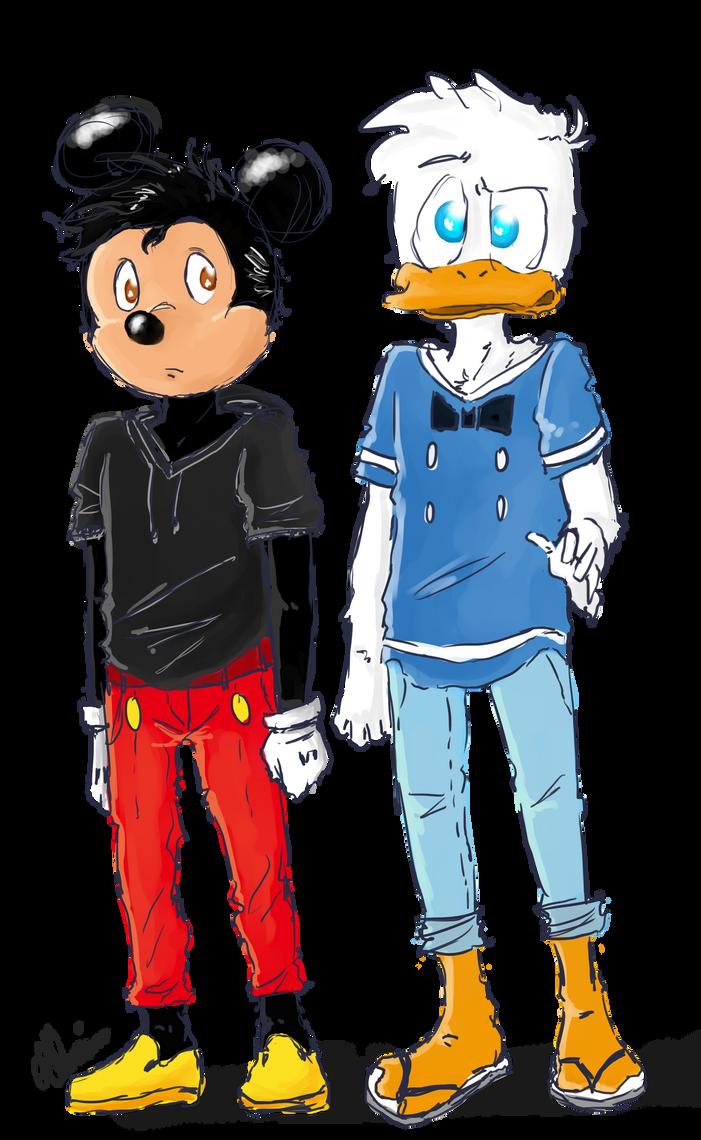Donald Mickey Teens by SandraSandra11