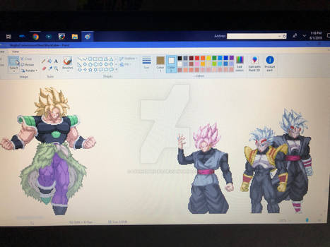 Broly vs Corrupted Heroes (Extreme Butoden)