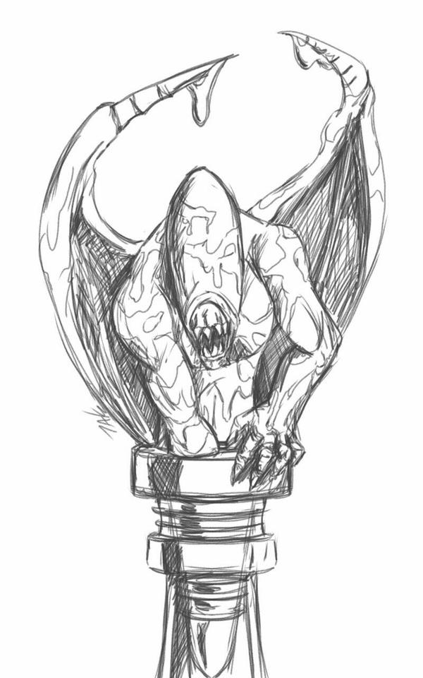 Daily Sketch: Demon Bottle Topper 4 by Hunchy