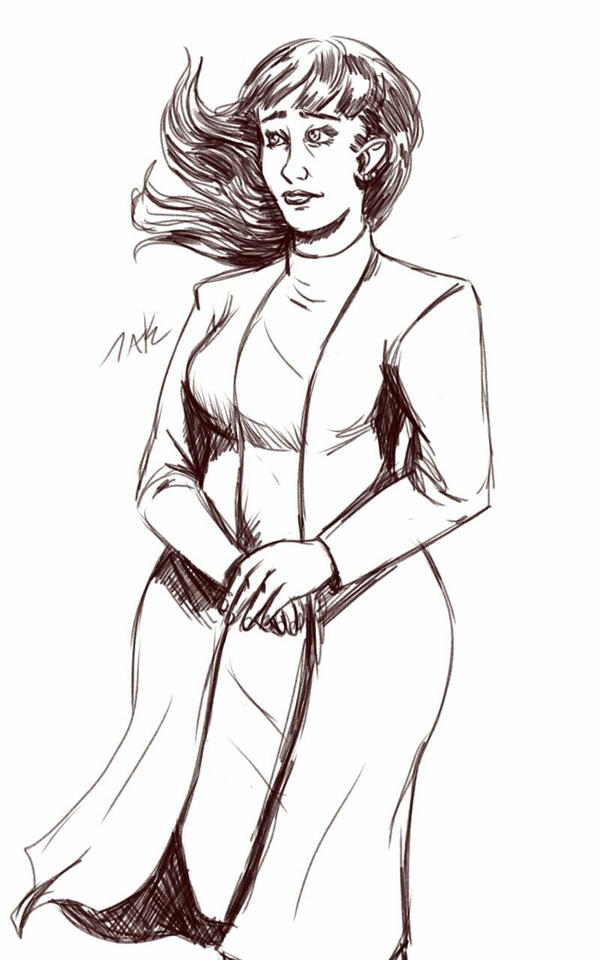 Daily Sketch: Lady Sandra by Hunchy
