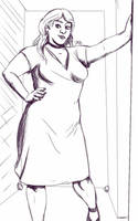 Daily Sketch: Ready For A Night Out by Hunchy