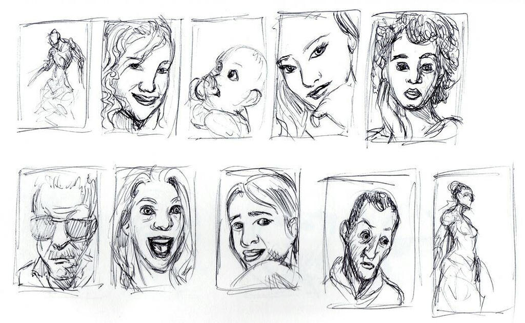 Daily Sketch: Indecision Thumbnails by Hunchy