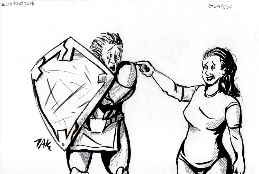 Daily Sketch: Guarded by Hunchy