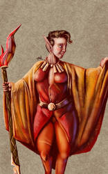 Daily Sketch: Elf Sorceress by Hunchy