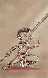 Daily Sketch: Gnome Monk Concept 3 by Hunchy