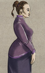 Daily Sketch: The Purple Lady