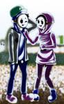 Shy Siblings in Mario World by EMMYtheK